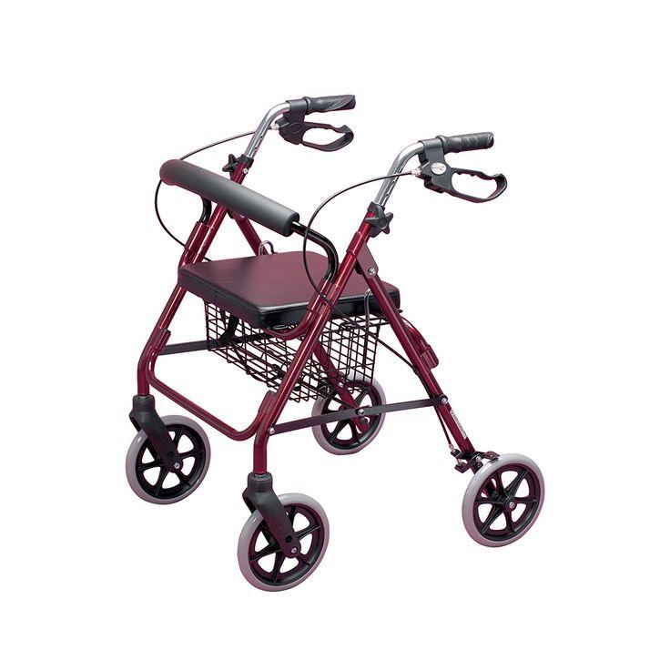 Homecraft - Andador con frenos y 4 ruedas, color rojo: Amazon.es: Salud y cuidado personal