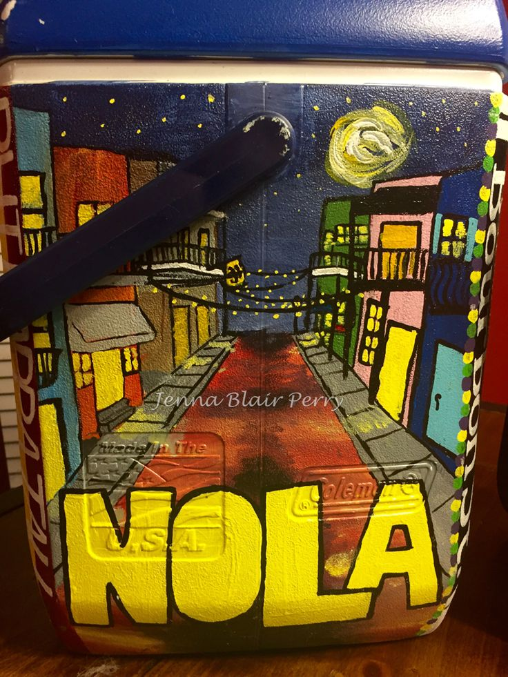 Ole Miss fraternity cooler. Bourbon street, New Orleans