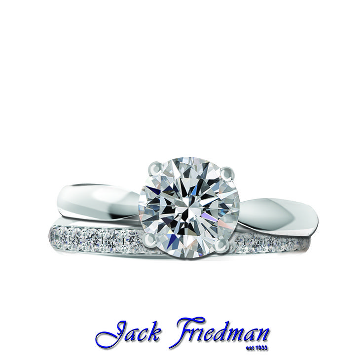 We offer a boutique collection of solitaires. #thekay is the essence of elegance. The minimal design displays the fire and brilliance of the diamond. Also available with a delicate diamond band.  @jackfriedman1933 is home tothe FINEST solitaires in the world! #gemobsessed #diamonds #finejewellery #diamondsareagirlsbestfriend #ring #rings #engagement