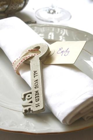 Shabby Chic - all you need is love place setting for Weddings