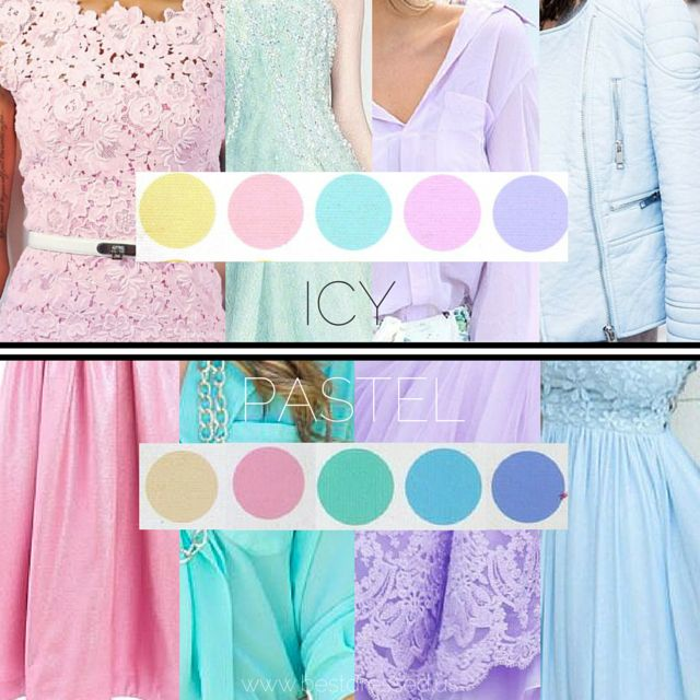 I made this infographic to help distinguish between winter's icy colors and summer's pastels. I used BW at top and LSu on bottom because I feel they are some of the harder ones to differentiate. Thanks to colleague S for collecting many of the photos.