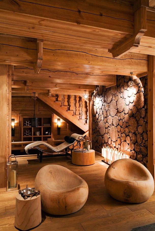 sunflowersandsearchinghearts: Luxurious Wood Space via Pinterest hermoso
