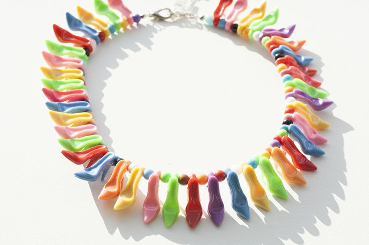 If the shoe fits...Barbie high heel necklace by Sacramento artisan Deb Kennedy.