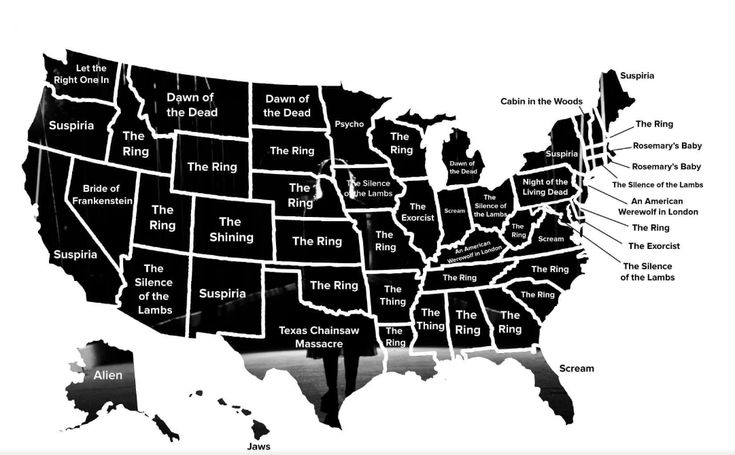 Most Popular Horror Movie By State