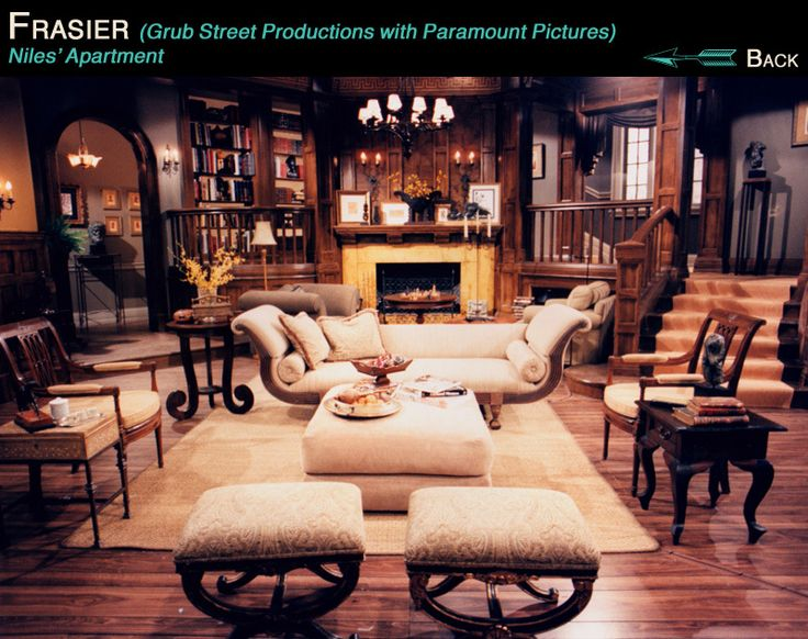 frasier living room niles crane s living room at the montana frequent 10960