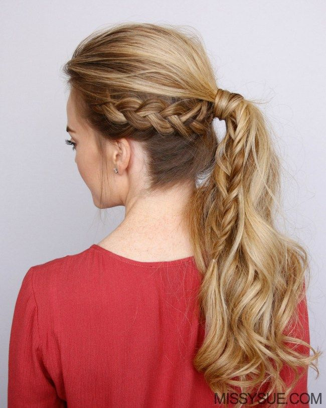 Dutch Braid Fishtail Ponytail | Missy Sue