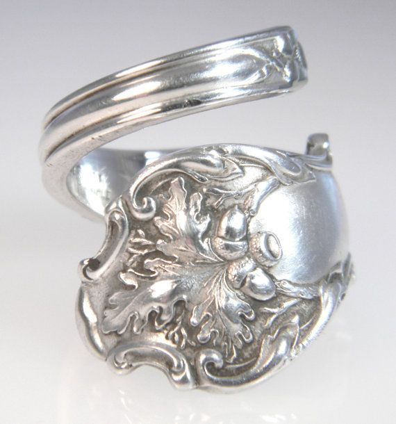 Fresh Silver Spoon Ring Charter Oak by CaliforniaSpoonRings