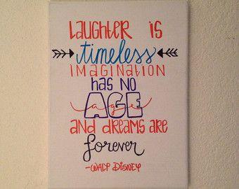 Walt Disney Canvas Quote van HeyKateCreations op Etsy