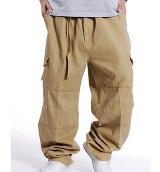 Military Style Loose Fit Baggy Cargo Pants Men Multi Pocket Cargo Pants For Men Casual Cotton Straight Pants Trousers Size 3XL