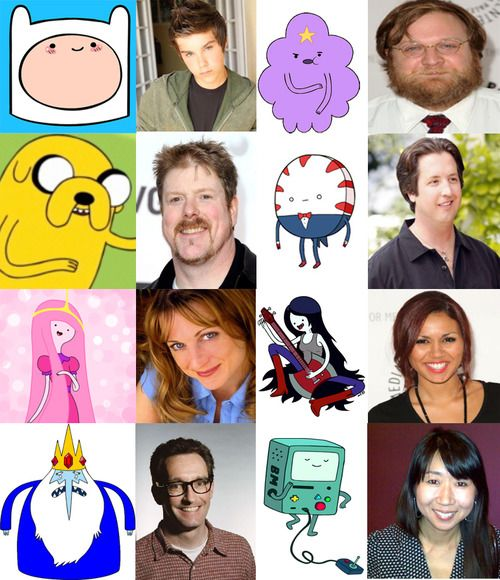 Voices of Adventure Time... Haha, I love that LSP is a dudes voice