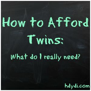 how to afford twins - What do I really need?  What don't I really need for twins? | hdydi.com