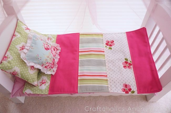 mini quilt tutorial for doll bed