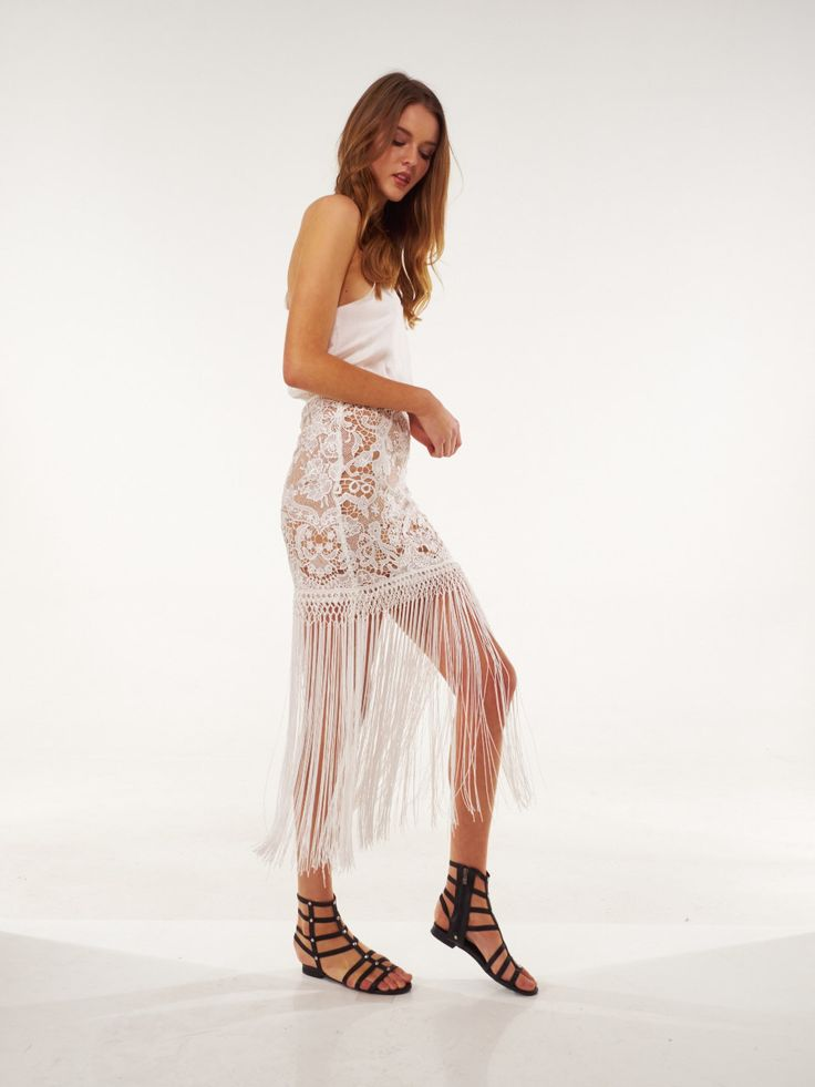Bronx And Banco - Fringed Skirt