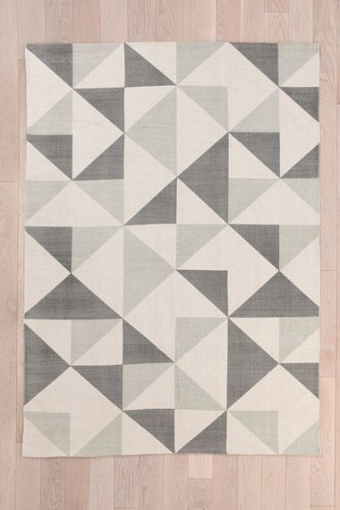 Rotating Triangle 5x7 Rug in Grey at Urban Outfitters