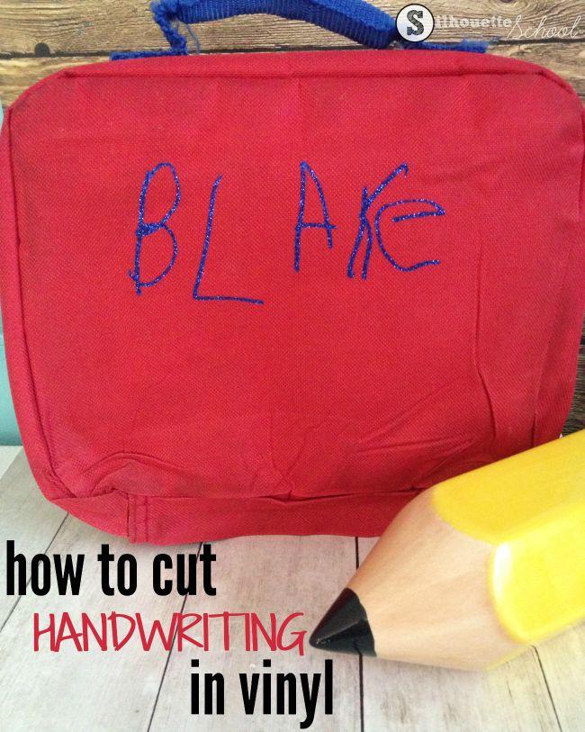 Cut Your Child's Handwriting on Heat Transfer Vinyl: Silhouette CAMEO Tutorial