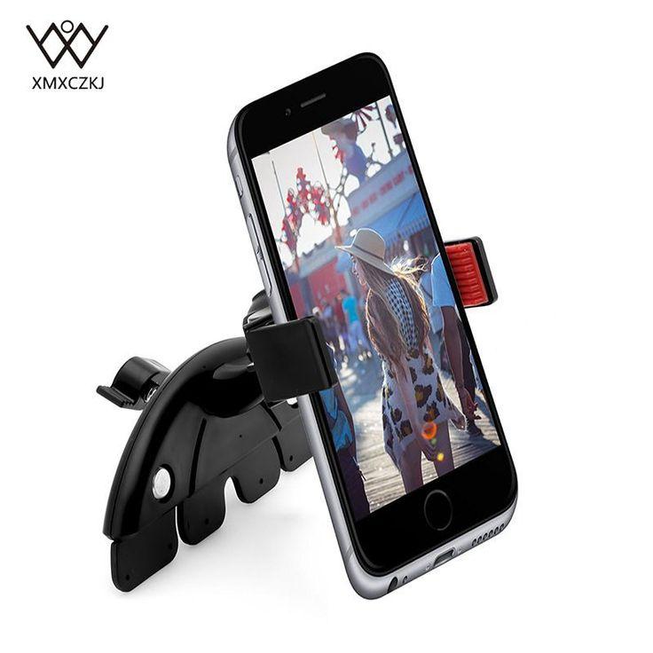 Универсальный Регулируемый CD слот автомобильный Сотовый Телефон держатель для iPhone 5 6 Plus для Samsung Galaxy мобильный телефон GPS кронштейн Подстав...