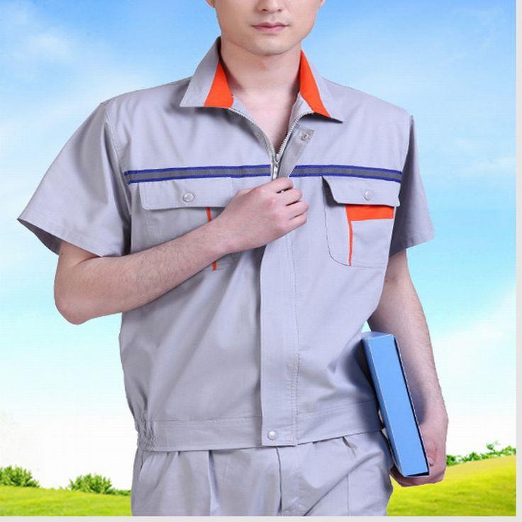 Short-sleeve work wear set summer work wear short-sleeve welding service reflective work wear