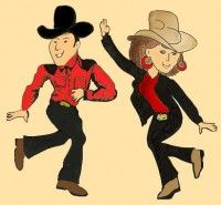 couples western dancing | Danse country