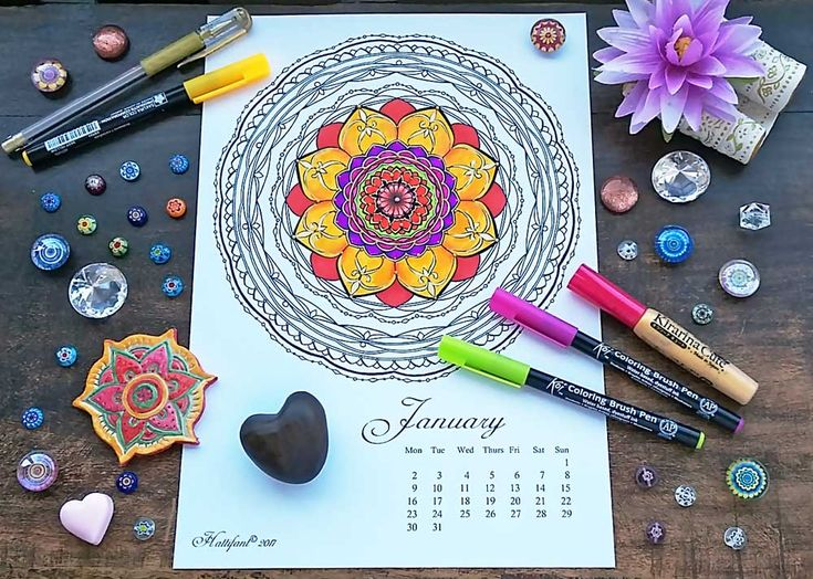 Coloring Pages For January Month : Best coloring pages images menu calendar adult