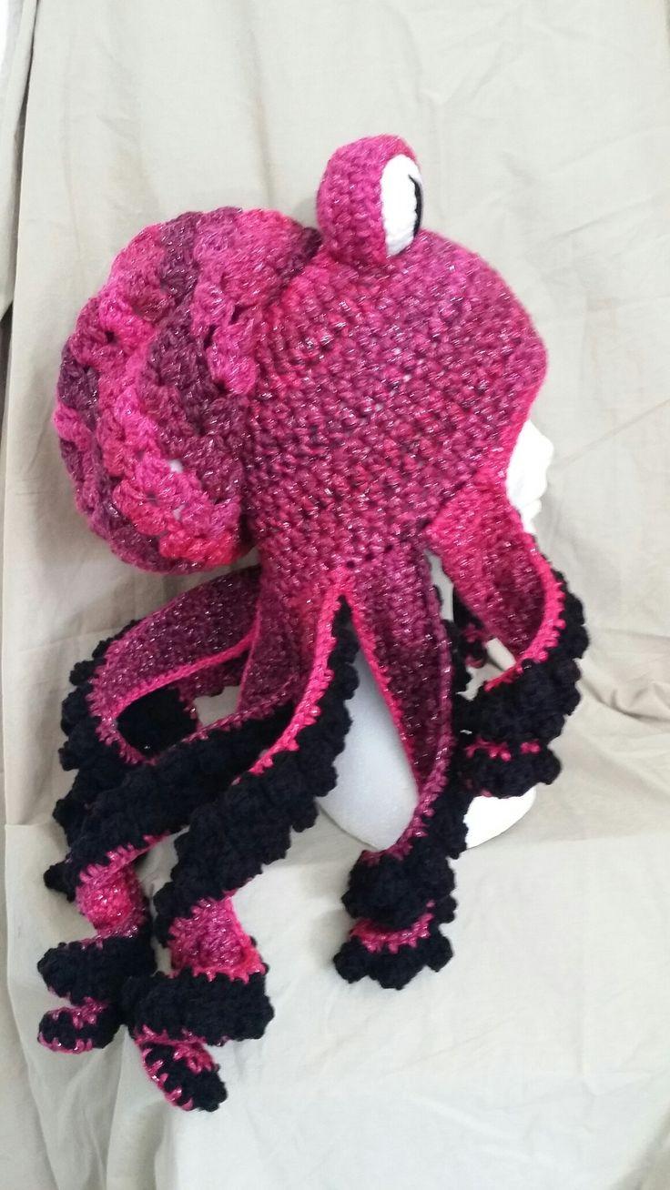 Crochet octopus beanie
