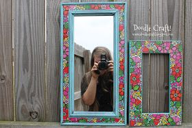 Doodle Craft...: Duct Tape Picture Frame!