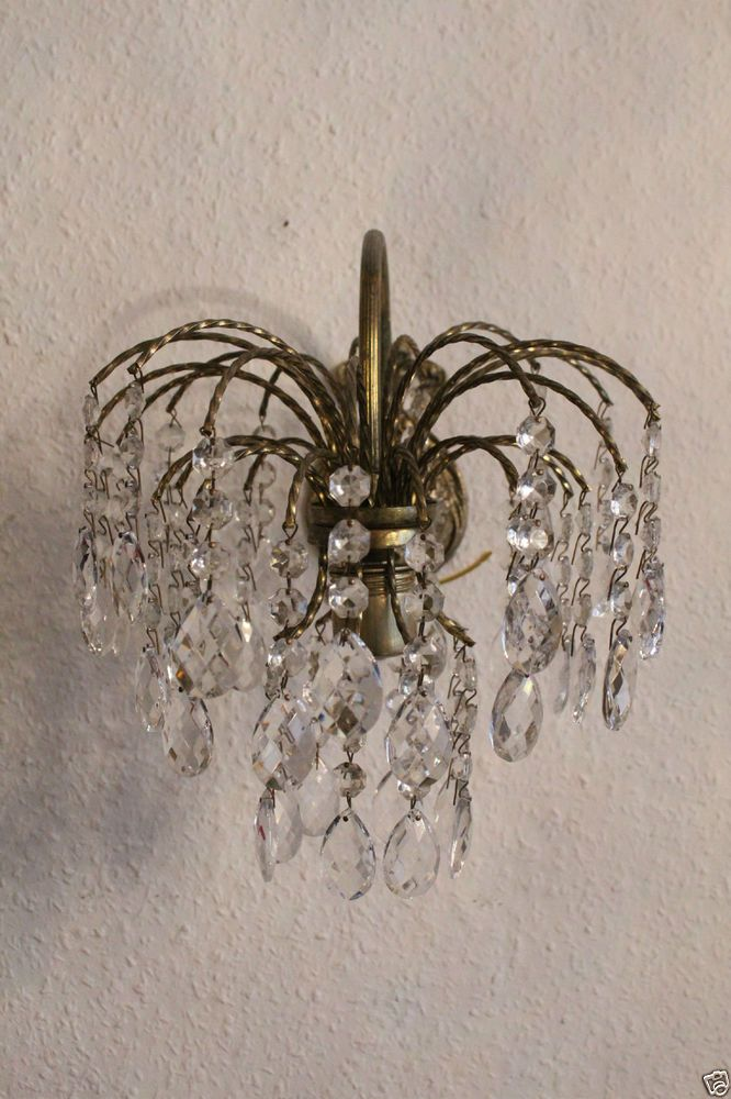Antike Kristall Wandlampe Kronleuchter Wall Sconce Vintage Antique Old  Luster Http://www.