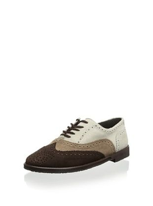 57% OFF Eli 1957 Kid's Glossy Lace-up Wingtip (Natural/Rice/Express)
