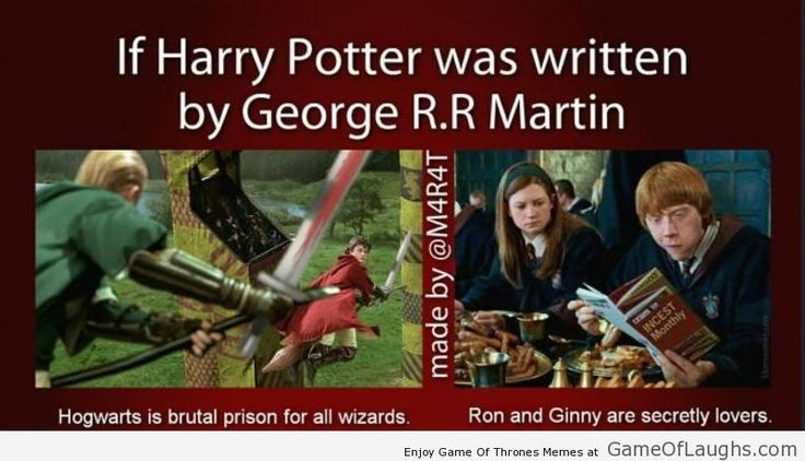 If Harry Potter was written by George RR Martin