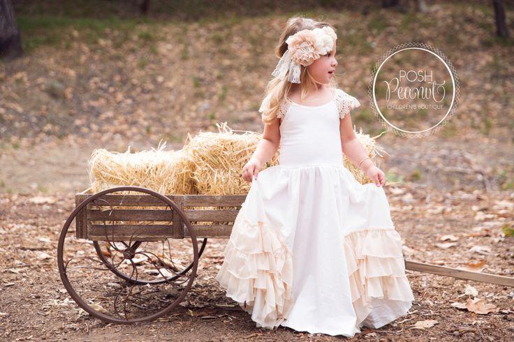 flower girl dress, flower girl dresses, vintage flower girl dress, toddler flower girl dress, Junior bridesmaid dress, boho flower girl by PoshPeanutKids on Etsy https://www.etsy.com/listing/262617172/flower-girl-dress-flower-girl-dresses