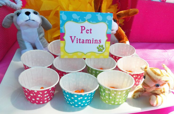 Pet Vitamins (Tic Tacs) Pet Adoption Station at a Cats and Dogs Birthday Paw-ty! Party Printables and styling by That Party Chick. For details on this party visit www.thatpartychick.net.
