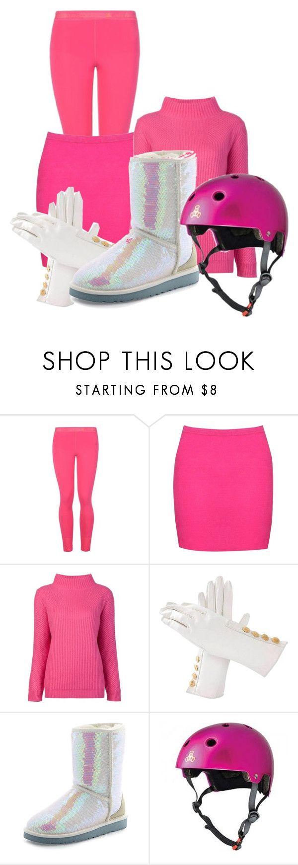 """Homemade Pink Power Ranger Costume"" by dairyqueen55 ❤ liked on Polyvore featuring STELLA McCARTNEY, Boohoo, Diane Von Furstenberg, Hermès, UGG Australia and Triple Eight"