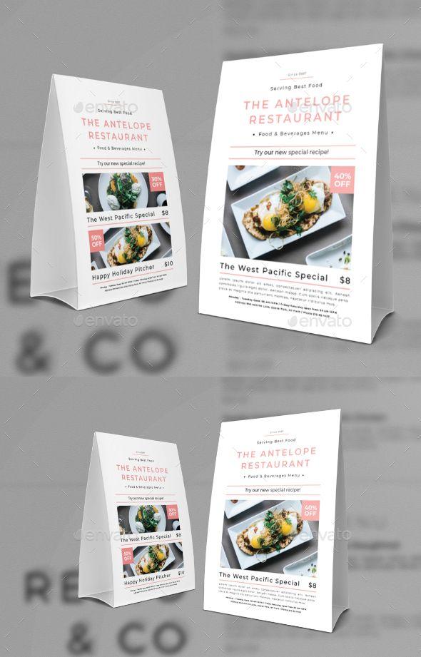 Restaurant Table Tent Food Menus Print Templates Food - Table tent printing