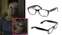House of Cards Season 2: Claire Underwood's (Robin Wright) eyeglasses / glasses/ frames by Ray-Ban #hoc #houseofcards #claireunderwood #robinwright #rayban #netflix
