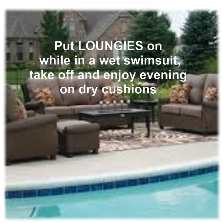 CoverLOUNGIES© is great to have by the pool.