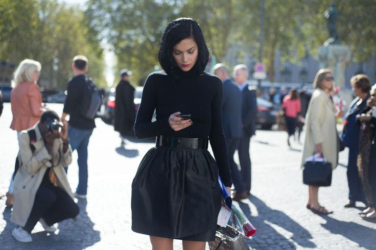 Total black! why not?! #streetstyle