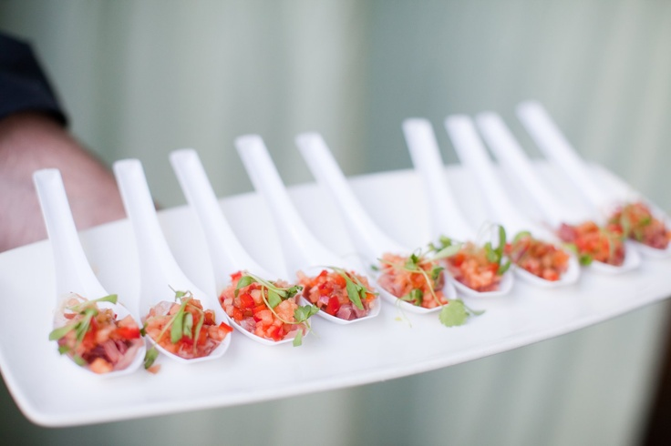 Passed appetizers Our Yellow & Grey Wedding Pinterest