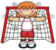 imagen de niña haciendo deporte para imprimir; Imagen de niña en la porteria de futbol