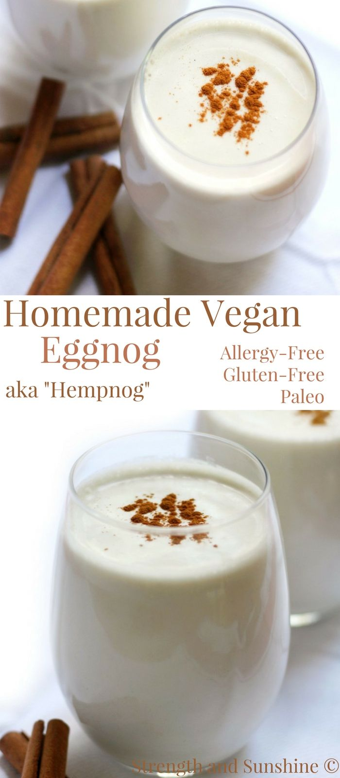 "Homemade Vegan Eggnog ""Hempnog"" (Gluten-Free, Allergy-Free, Paleo) 