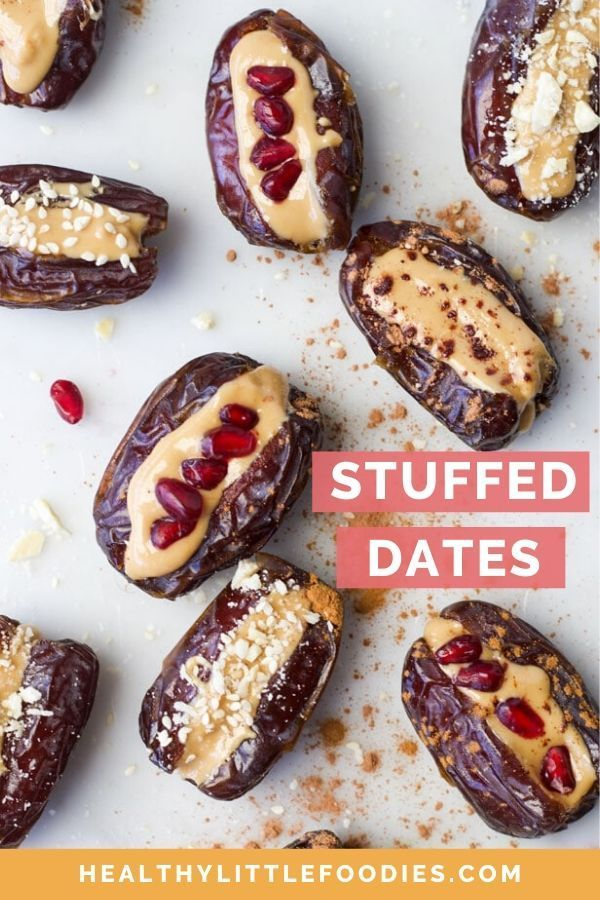 Peanut Butter Stuffed Dates Healthy Little Foodies Recipe In 2020 Easy Vegan Dessert Delicious Desserts Vegan Desserts