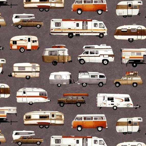 Parks and Recreation Campers Trailers on Gray By Studio E