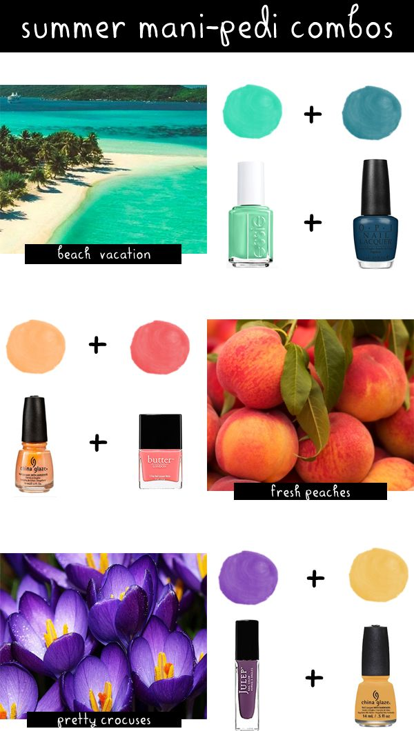 summer mani pedi colors