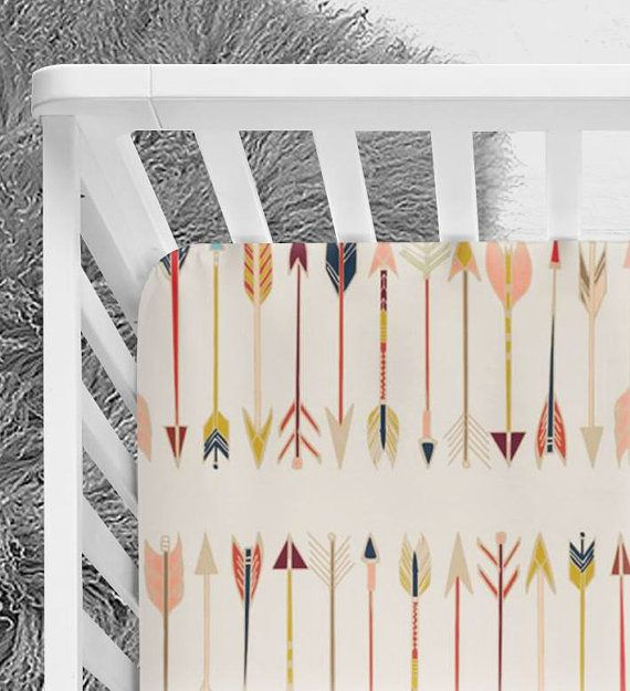 Tribal Arrows Nursery Bedding Gender Neutral tribal by NoniandV