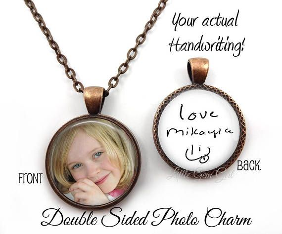 Custom Personalized Stainless Steel Charm Heart Necklace Custom Double Sided Personalized Necklace