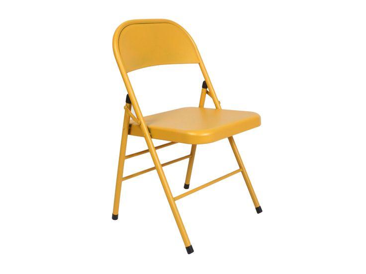 Складной металлический стул Base-yel Желтый в интернет-магазине мебели и товаров для интерьера ОГОГО Обстановчка! Доставка, гарантия 1 090