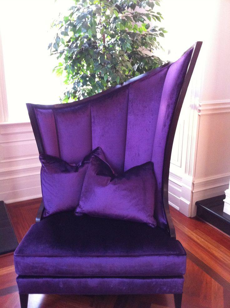 Regal Purple Velvet Chair ~ wow ♥ the shape