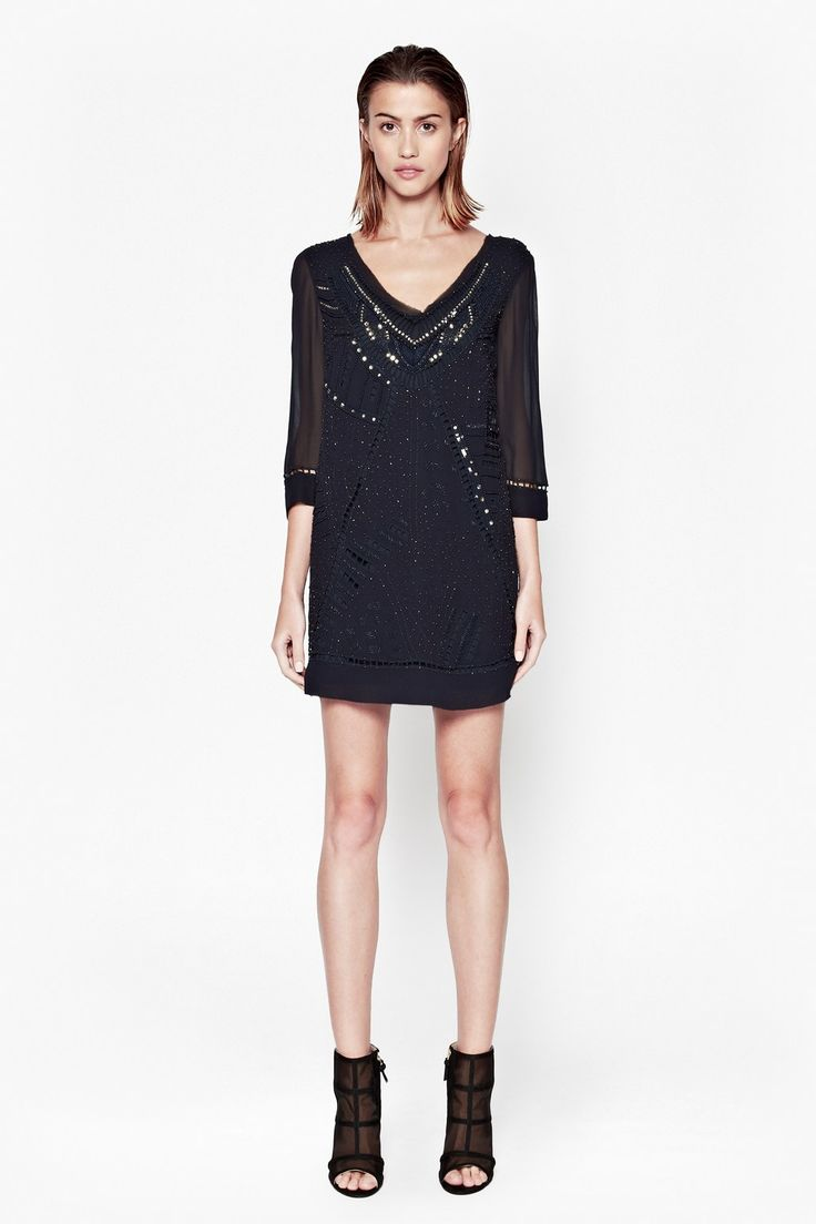 Evissa Beaded Tunic Dress - Dresses - French Connection
