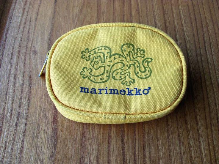 Marimekko Vintage Yellow Wallet Green Jaguar Bo Haglund #Marimekko