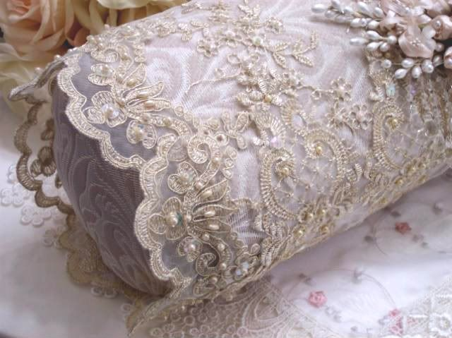 Linens & Fabric Magic...More Romance...romantic victorian home pillow