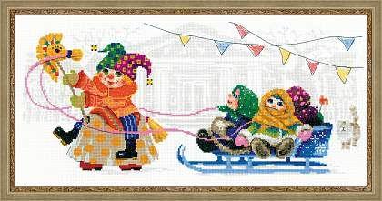 Набор для вышивания № 1519 Масленица. Петрушка от РИОЛИС  Cross stitch kit № 1519 Petrushka by RIOLIS