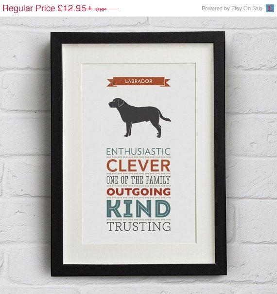 Black Friday Sale  Labrador Dog Breed Traits by WellBredDesign
